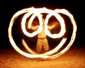 Fire Dancing in Miami